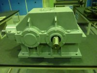 Bevel-helical gearbox foot-mounted with solid output shaft TS 030 406 - Solid, durable, efficient...