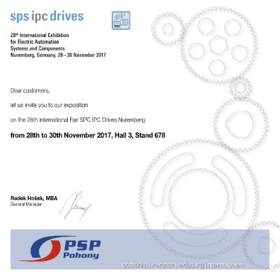 Invitation to SPS IPC Drives 2017