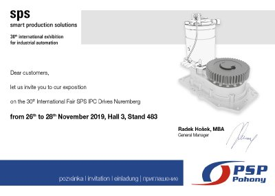 Invitation to SPS IPC Drives Fair